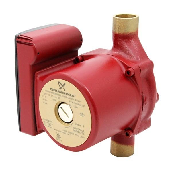 "Grundfos 59896121 Bronze Circulator Pump, 3/4"" Sweat, 1/25HP, 115V"