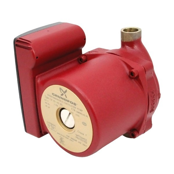 "UP15-42B5 Bronze Circulator Pump, 1/2"" Sweat, 1/25 HP, 115V"