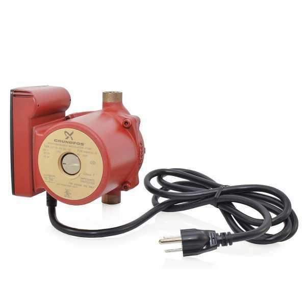 "UP15-10B5/LC Bronze Circulator Pump w/ Line Cord, 1/2"" Sweat, 1/25HP, 115V"