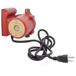 "Grundfos 59896214 Bronze Circulator Pump, 1/2"" Sweat, 1/25HP, 115V, Line Cord"