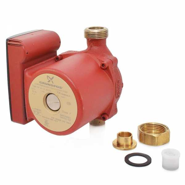 "UP15-10BUC5 Bronze Circulator Pump w/ IFC, 1/2"" Sweat (Union), 1/25 HP, 115V"