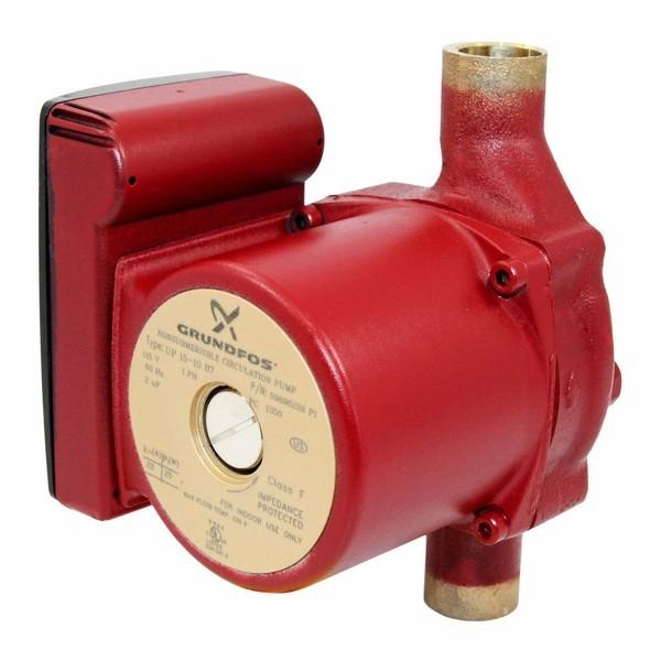 "Grundfos 59896226 Bronze Circulator Pump, 3/4"" Sweat, 1/25HP, 115V"