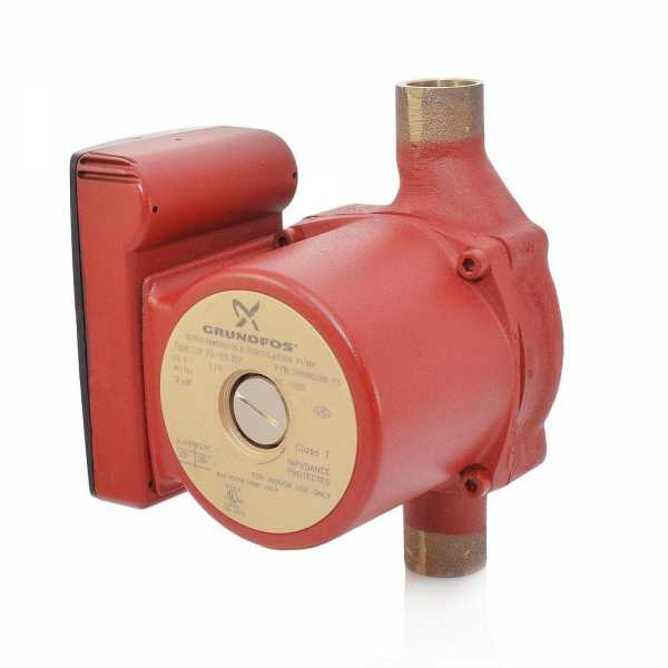 "UP15-10B7 Bronze Circulator Pump, 3/4"" Sweat, 1/25HP, 115V"
