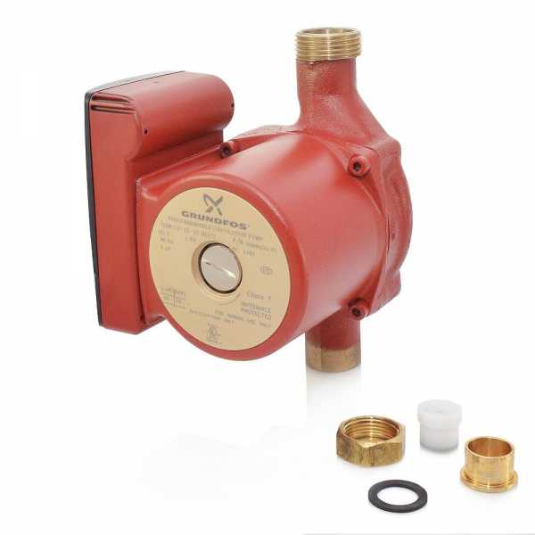 "UP15-10BUC7 Bronze Circulator Pump w/ IFC, 3/4"" Sweat (Union), 1/25 HP, 115V"