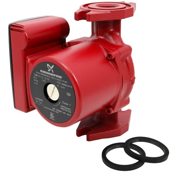 Grundfos 59896249 Cast iron Circulator Pump, Rotated Flange, 1/25HP, 115V