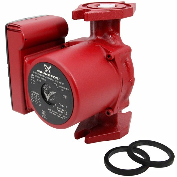Grundfos 59896343 3-Speed Circulator Pump w/ IFC, 1/25HP, 115V