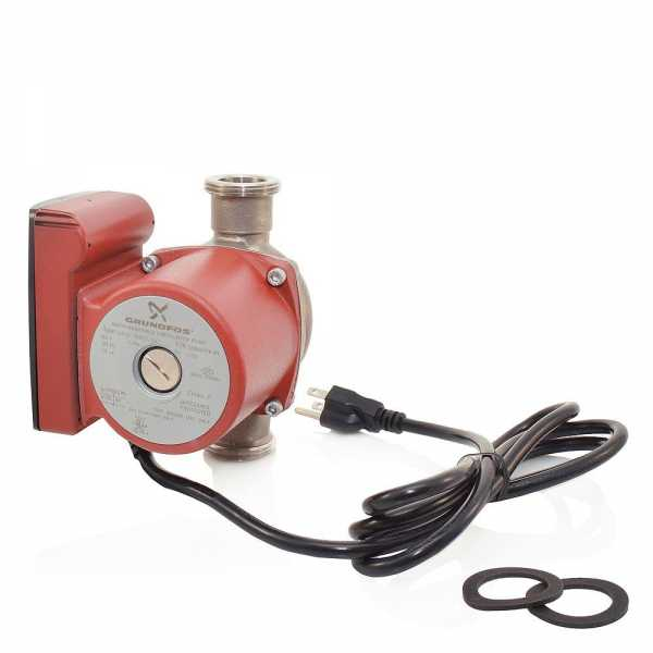 """UP15-29SU/LC Stainless Steel Circulator Pump w/ Line Cord, 1-1/4"""" Union, 1/8 HP, 115V"""