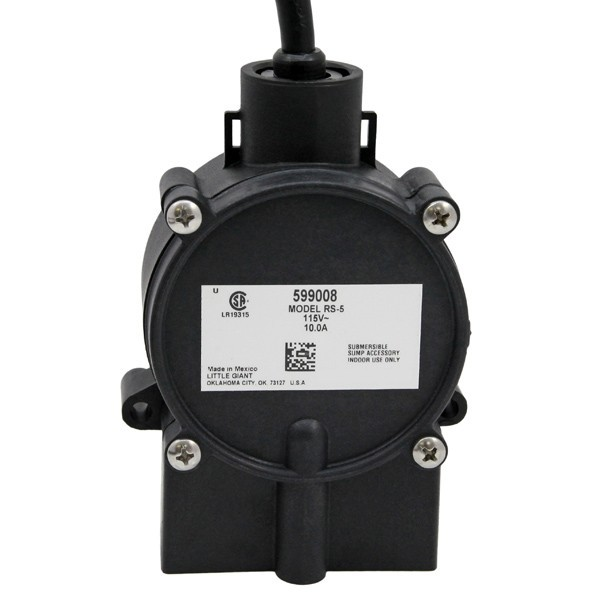 "Little Giant 599008 Piggyback Diaphragm Switch, 10"" Cord, 110v ~ 120v"