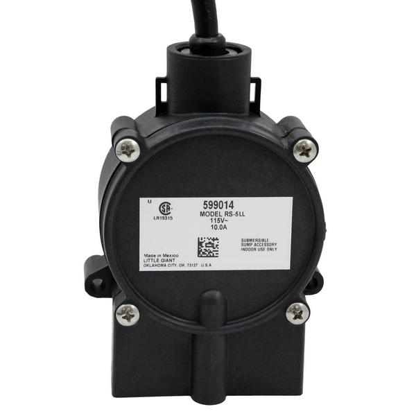 RF-5LL Low-Level Piggyback Diaphragm Switch w/ 18ft cord, 10A max., 115V