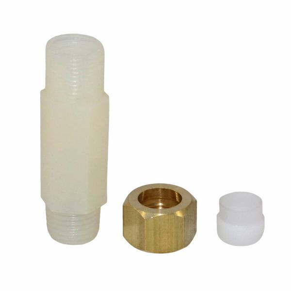 "Check Valve, 1/4"" MNPT x 3/8"" ID (copper or rigid plastic tubing)"