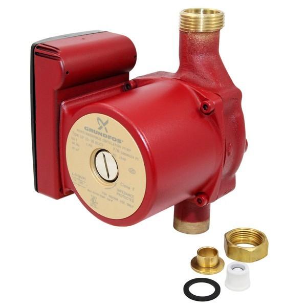 "Grundfos 59896124 Bronze Circulator Pump w/ IFC, 3/4"" Sweat, 1/25HP, 115V"