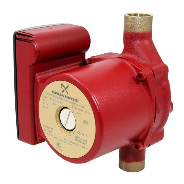 "UP15-42B7 Bronze Circulator Pump, 3/4"" Sweat, 1/25 HP, 115V"