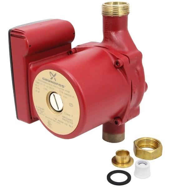 "Grundfos 59896151 Bronze Circulator Pump w/ IFC, 3/4"" Sweat, 1/25HP, 115V"