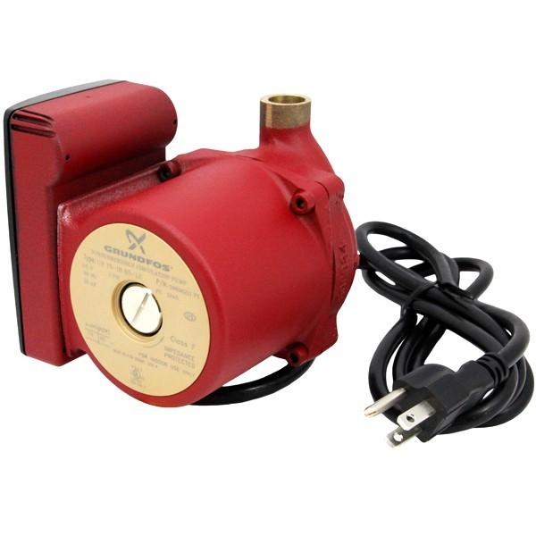 "Grundfos 59896211 Bronze Circulator Pump, 1/2"" Sweat, 1/25HP, 115V, Line Cord"
