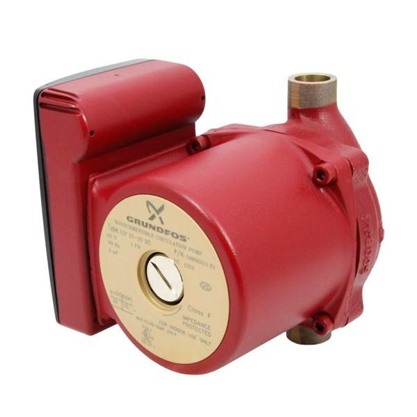 "Grundfos 59896213 Bronze Circulator Pump, 1/2"" Sweat, 1/25HP, 115V"