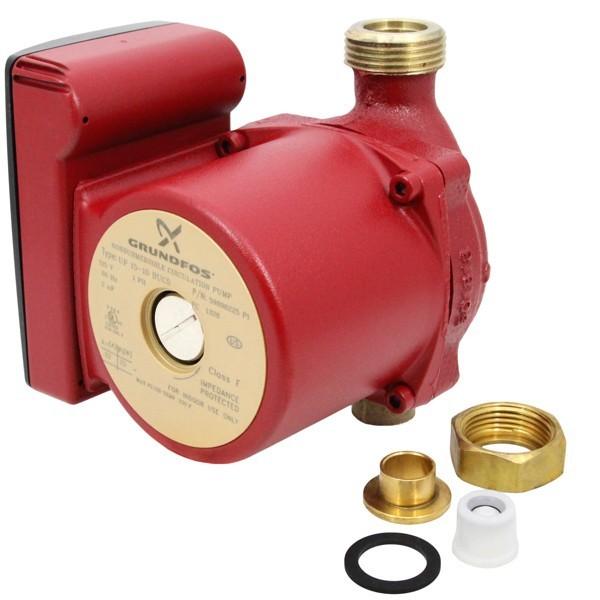 "Grundfos 59896225 Bronze Circulator Pump w/ IFC, 1/2"" Sweat, 1/25HP, 115V"