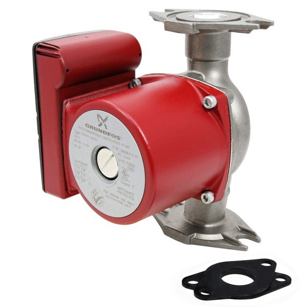 Grundfos 59896773 3-Speed Stainless Steel Circulator Pump w/ IFC, 1/8HP, 115V