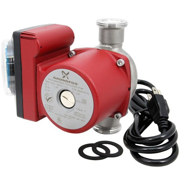 "UP15-29SUC/TLC Stainless Steel Circulator Pump w/ IFC, Timer & Line Cord, 1-1/4"" Union, 1/8 HP, 115V"
