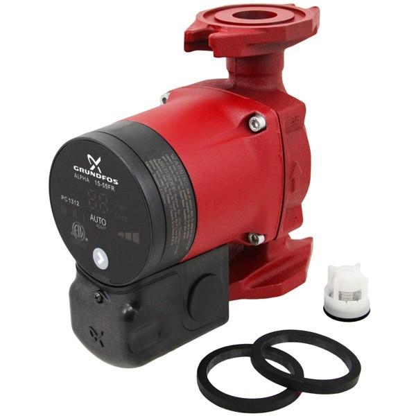 Grundfos 59896878 15-55FR Circulator Pump w/ IFC, 1/16HP, 115V, Rotated Flange