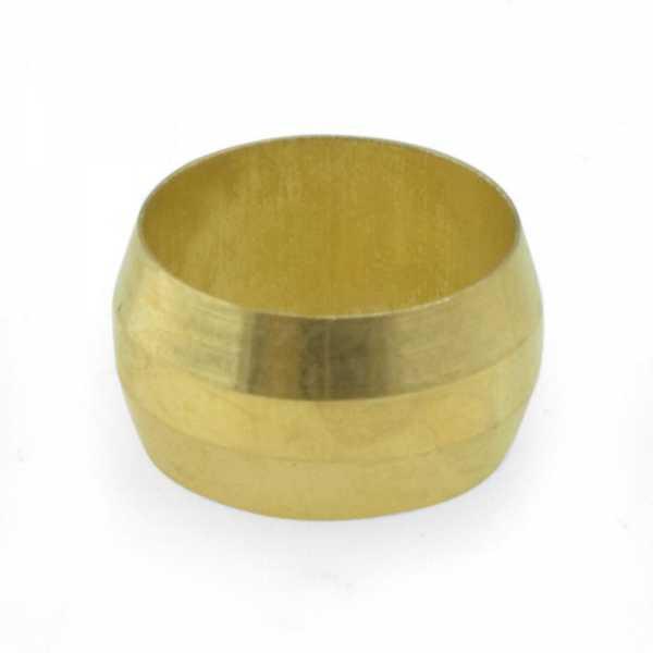 "1/2"" OD Brass Compression Sleeve Lead-Free"