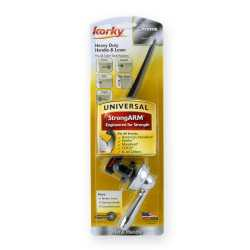 Korky StrongArm Universal Adjustable Toilet Tank Lever, Chrome, Faucet-Style Handle