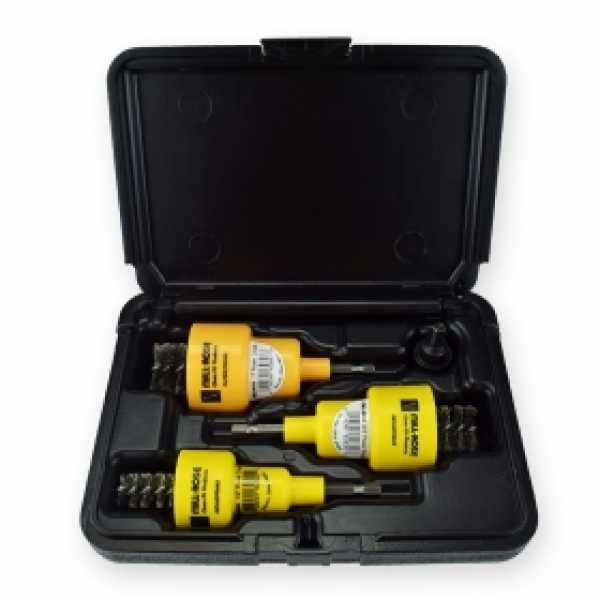 """Power-Deuce Brushing Tool Set for 1/2"""", 3/4"""", 1"""""""
