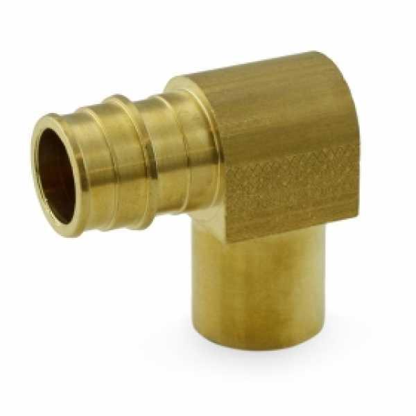 """3/4"""" PEX x 3/4"""" Male Sweat F1960 Elbow, LF Brass"""