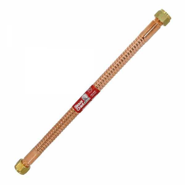 """24"""" Flexible Copper Water Heater Connector 3/4"""" FIP x 3/4"""" FIP (Swivel)"""