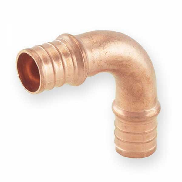 """3/4"""" x 3/4"""" PEX Copper Elbow, Lead-Free, Copper"""