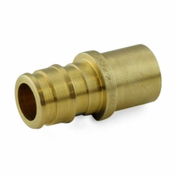 "1/2"" PEX x 1/2"" Male Sweat F1960 Adapter, LF Brass"