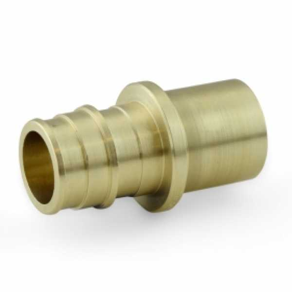 "3/4"" PEX x 3/4"" Male Sweat F1960 Adapter, LF Brass"