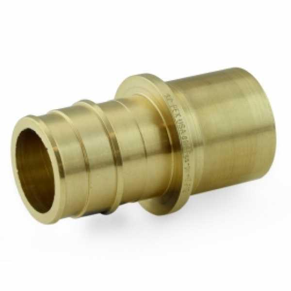 """1"""" PEX x 1"""" Male Sweat F1960 Adapter, LF Brass"""