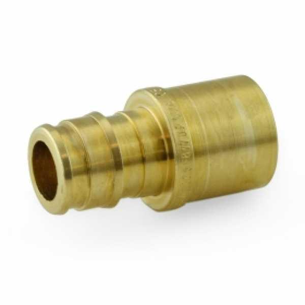 """1/2"""" PEX x 1/2"""" Female Sweat F1960 Adapter, LF Brass"""