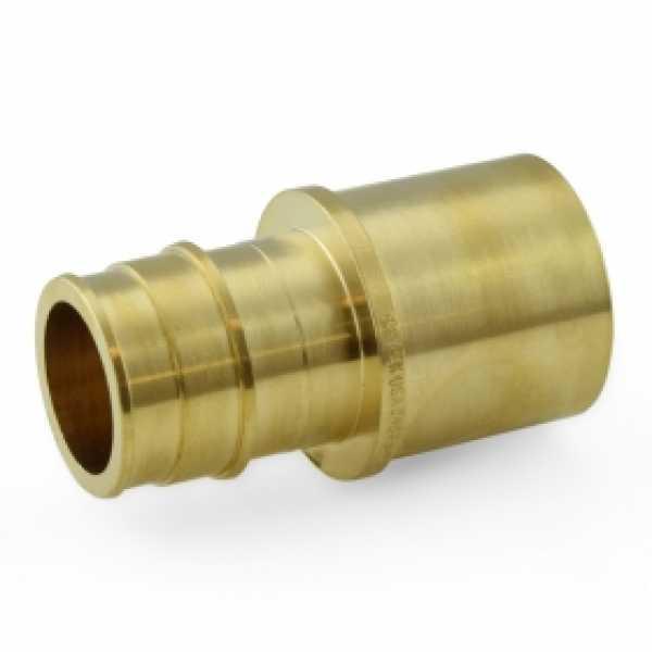 """1"""" PEX x 1"""" Female Sweat F1960 Adapter, LF Brass"""