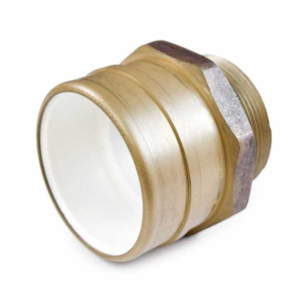 "2"" PVC x 2"" MIP (Male Threaded) Brass Adapter, Lead-Free"