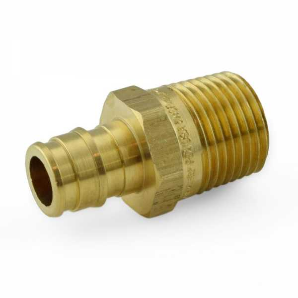 """1/2"""" PEX-A x 1/2"""" Male Threaded Expansion Adapters, Lead-Free"""