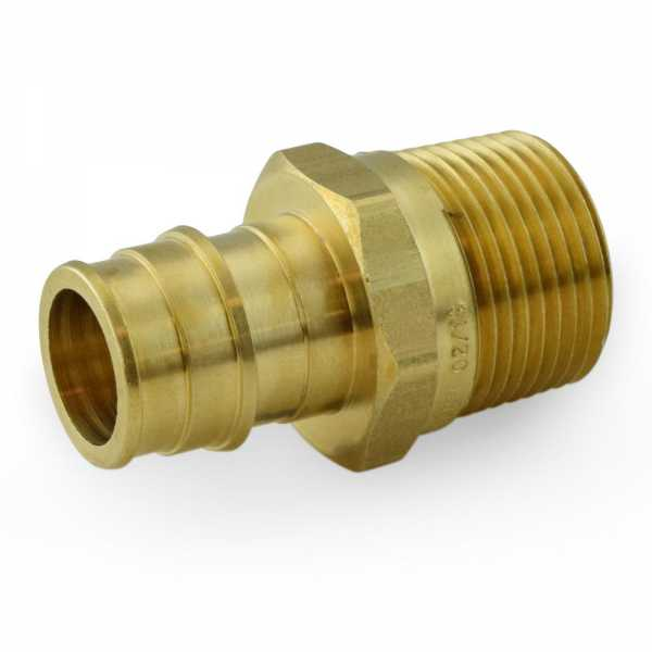 "3/4"" PEX-A x 3/4"" Male Threaded Expansion Adapters, Lead-Free"