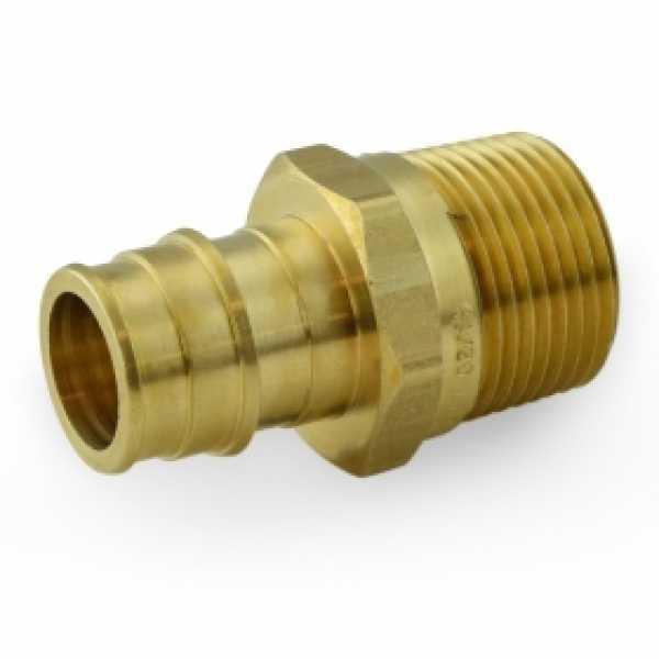 """3/4"""" PEX x 3/4"""" Male Threaded F1960 Adapter, LF Brass"""