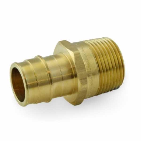 """1"""" PEX x 1"""" Male Threaded F1960 Adapter, LF Brass"""