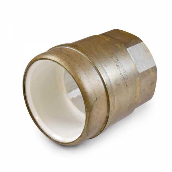"1-1/2"" PVC x 1-1/2"" FIP (Female Threaded) Brass Adapter, Lead-Free"