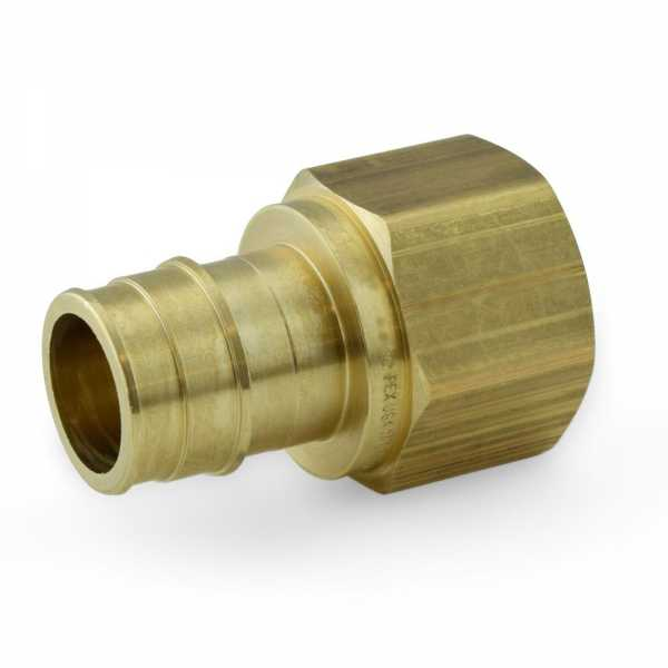 "1"" PEX x 1"" Female Threaded Adapter, Brass, Lead-Free"