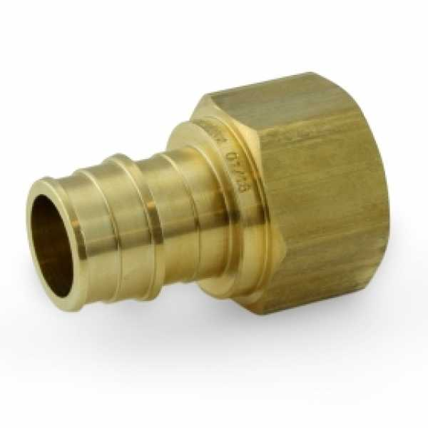 "3/4"" PEX x 3/4"" Female Threaded F1960 Adapter, LF Brass"
