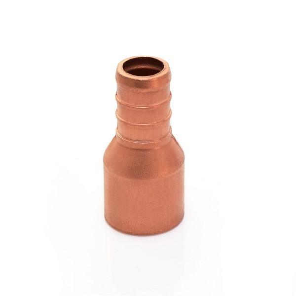 """1"""" PEX x 1"""" Copper Pipe Adapter, Lead-Free, Copper"""