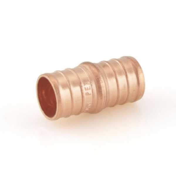 "3/4"" x 3/4"" PEX Coupling, Lead-Free, Copper"