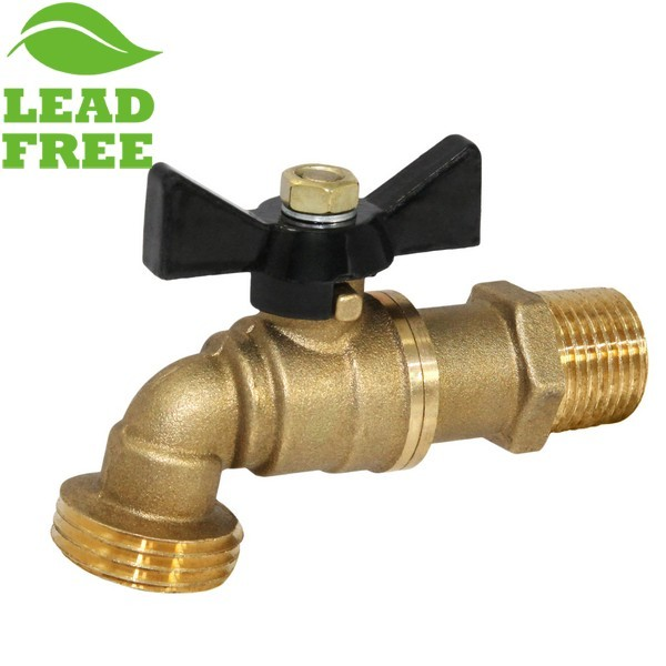 "1/2"" MIP Hose Bibb Ball Valve (1/4-Turn), Lead-Free"