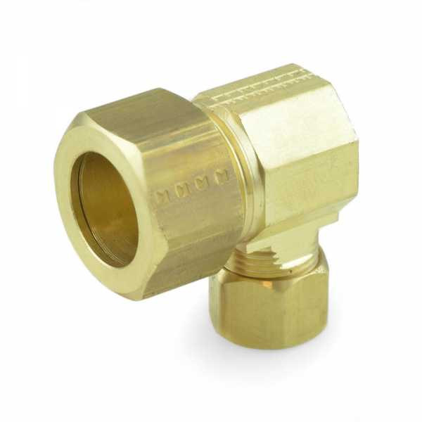 "5/8"" x 3/8"" OD Compression Reducing Elbow, Lead-Free"