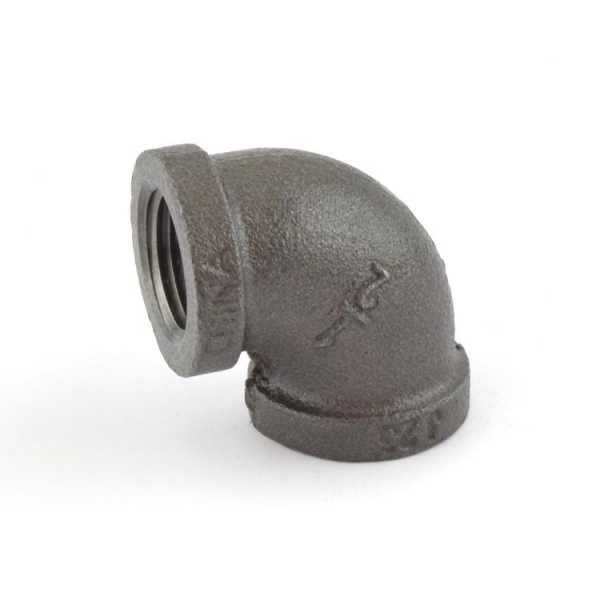 "1/2"" Black 90° Elbow (Imported)"