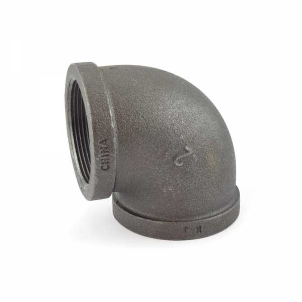 "2"" Black 90° Elbow (Imported)"