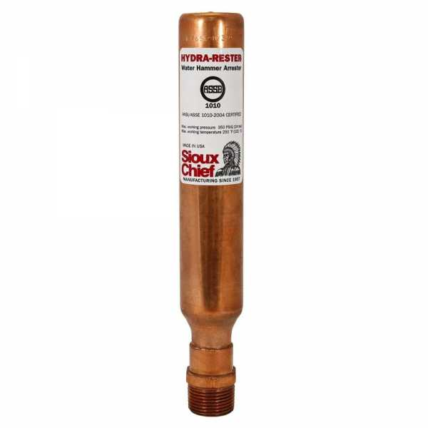 "1/2"" MIP Hydra-Rester Commercial Water Hammer Arrestor, Lead-Free"