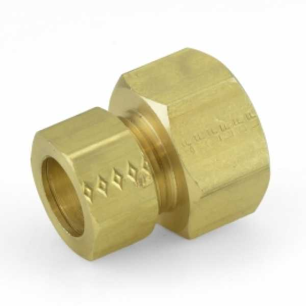 "5/8"" OD x 3/4"" FIP Threaded Compression Adapter, Lead-Free"